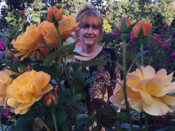 Donna in the Rose Garden